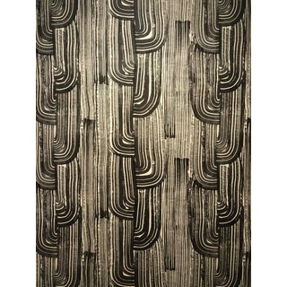 Abstract Groundworks Crescent Paper Ebony/Cream Wallpaper - 3 Double Rolls For Sale