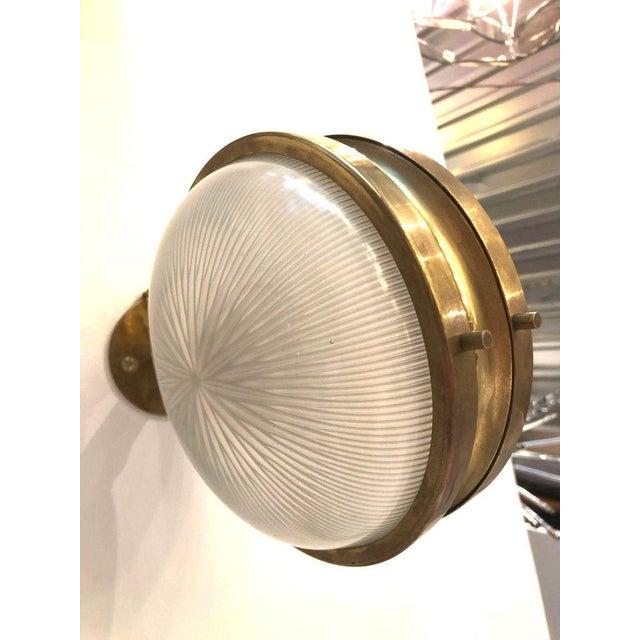 Pair of Mid Century Modern Sergio Mazza 'Gamma' Artemide Brass Sconces For Sale In Dallas - Image 6 of 11
