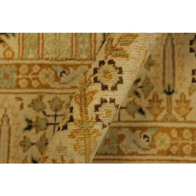 Istanbul Jerri Tan/Gold Turkish Hand-Knotted Rug -4'1 X 6'0 For Sale - Image 4 of 8