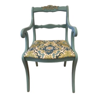 Vintage Carved Floral Accent Chairs