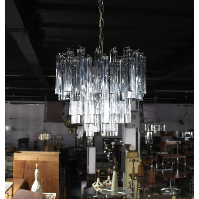 Medium Size Venini Glass Prisms Camer Light Fixture For Sale In New York - Image 6 of 9
