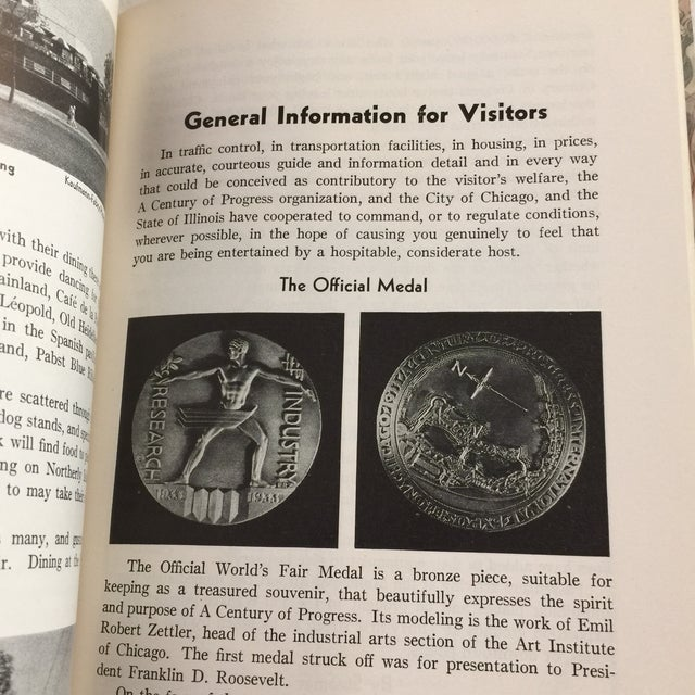 1933 Official Guide Book Chicago World's Fair Book For Sale - Image 10 of 13