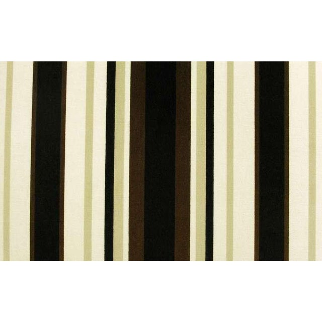 Textile Marden Even-Arm Striped Velvet Tuxedo Sofa For Sale - Image 7 of 8