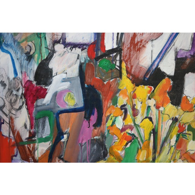 Modern Abstract Expressionist Still Life Painting - Image 3 of 4