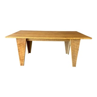 Contemporary Oak Farm Table/Desk For Sale