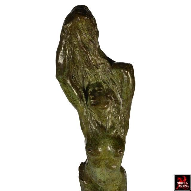 Bronze Female Nude Bronze Sculpture by Edouard Vereycken, circa 1925 For Sale - Image 7 of 10