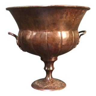 Vintage Copper Metal Urn