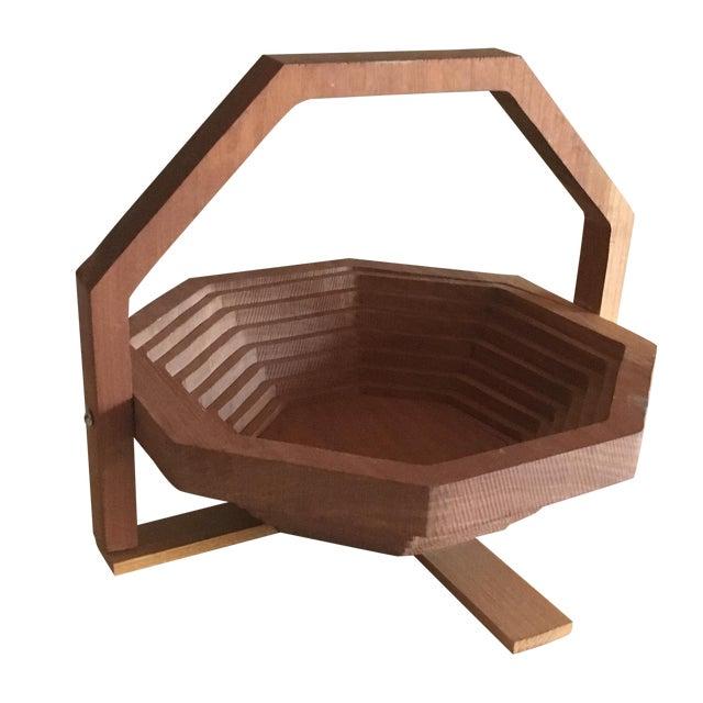 Brutalist Style Modern Handmade Collapsing Basket - Image 1 of 5