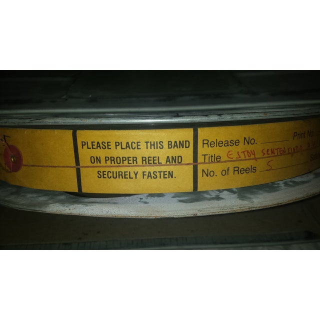 Vintage Movie Reel Canister 35mm with Three Reels For Sale In Sacramento - Image 6 of 10