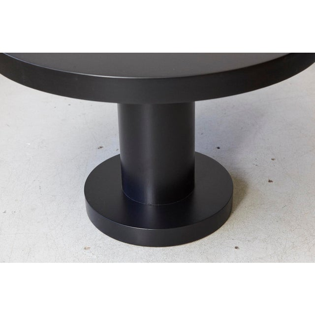 Modern Puristic Oak Center Table in New Black Finish, 1960s For Sale - Image 11 of 12