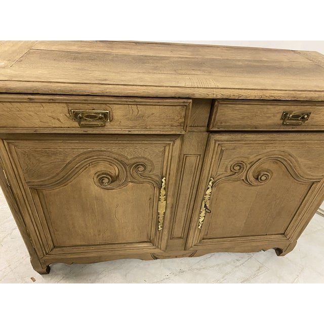 Antique Buffet Provencal Louis XV Style Bleached Walnut Wood For Sale - Image 6 of 8