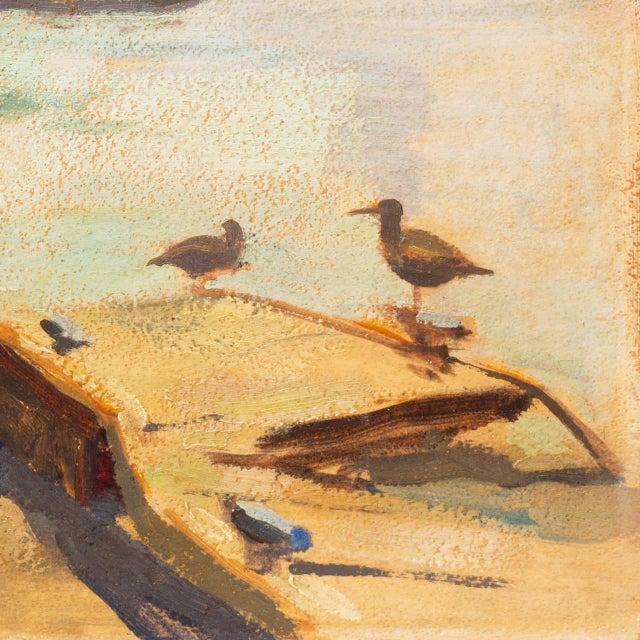 Paint 'Harbor Mist' by Jonathan Scott Circa 1960, Laguna Beach Art Association, Aws, Pasadena Art Museum For Sale - Image 7 of 11