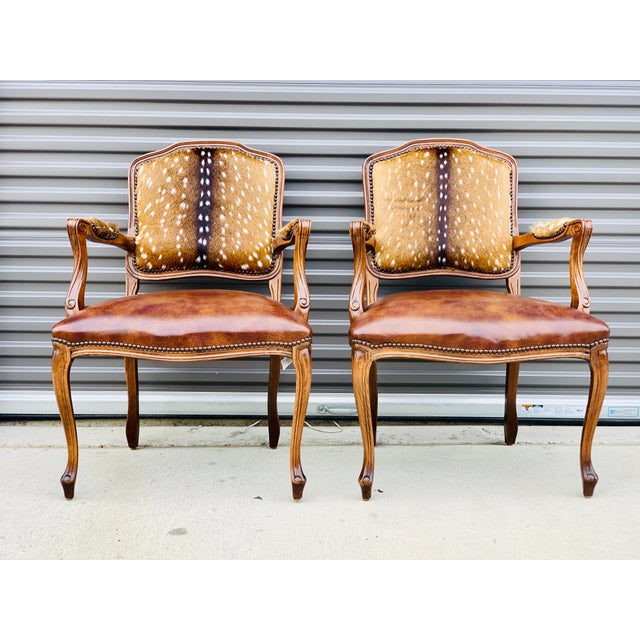 Modern Axis Deer Arm Chairs- a Pair For Sale - Image 13 of 13