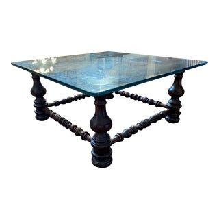 1970s Ethan Allen Old Tavern Coffee Table For Sale