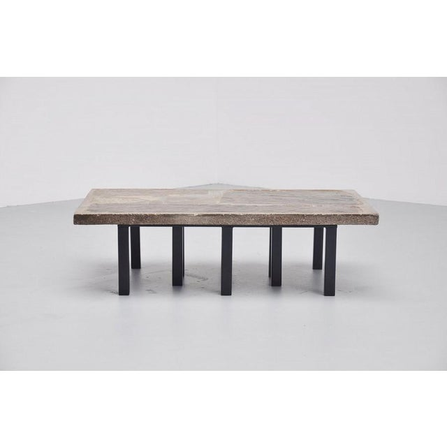 Paul Kingma rectangular coffee table in stone and concrete 1963 - Image 7 of 7