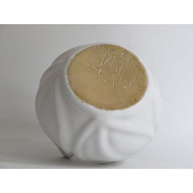 Art Nouveau Van Briggle White Ceramic Vessel For Sale - Image 3 of 7