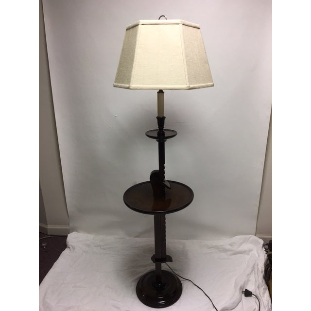 Vintage ratchet arm wood floor lamp with table chairish vintage ratchet arm wood floor lamp with table image 2 of 9 aloadofball Images