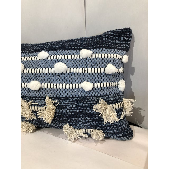 Kenneth Ludwig Chicago Boho Chic Kenneth Ludwig Chicago Blue Pillow For Sale - Image 4 of 6