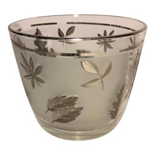 1960's Mid Century Libbey Silver Leaf Ice Bucket For Sale
