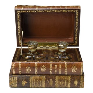 From Paris: A Tantalus Decanter Set Concealed in Books For Sale