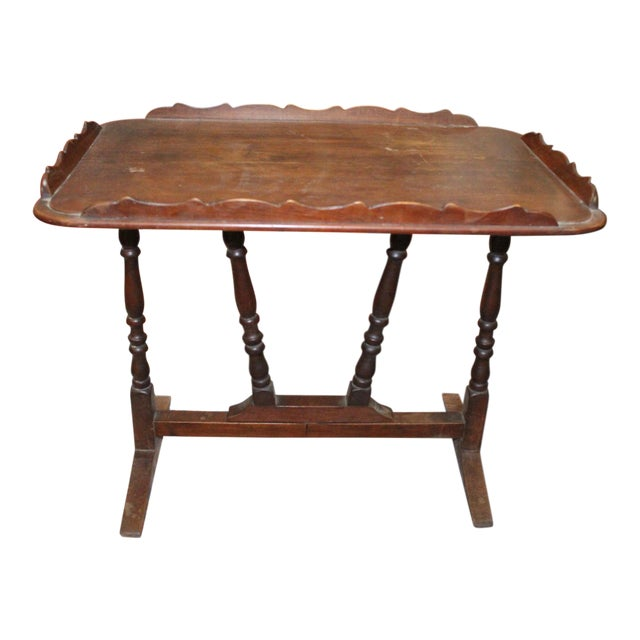 19th Century Art Nouveau Folding Tray Table For Sale