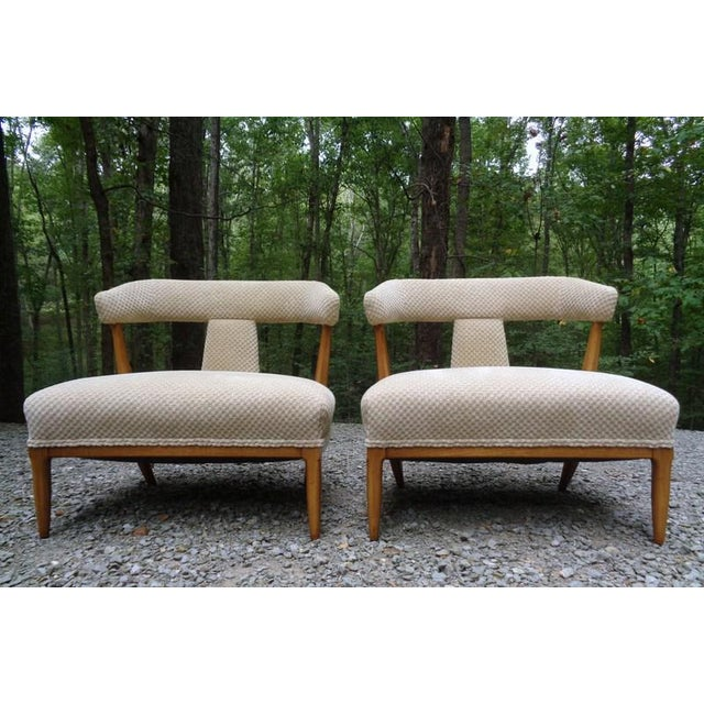 Tomlinson / Erwin - Lambeth Mid Century Tomlinson Sophisticate Slipper Chairs ~ a Pair For Sale - Image 4 of 13