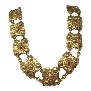 2003 Chanel Gold-Tone Medallion Necklace For Sale
