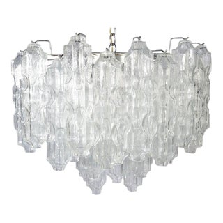 Carlo Scarpa for Venini Murano Chandelier Having 54 Murano Glass Globes For Sale