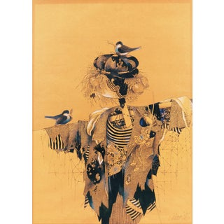 'Scarecrow With Nesting Birds' Unknown; 1996 For Sale