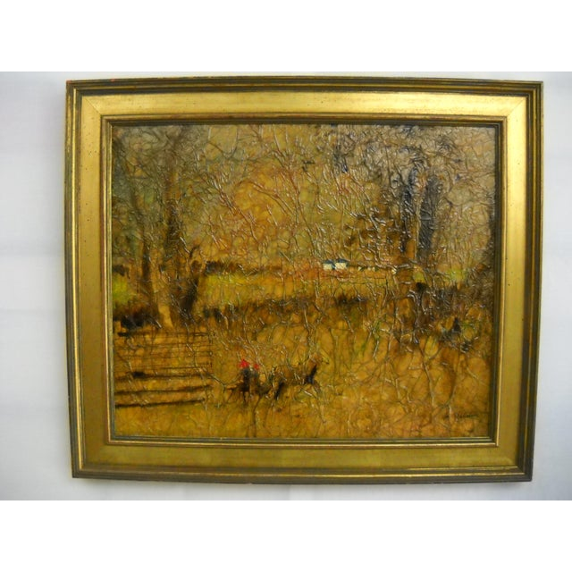Rustic Country Lane Trotter Mixed-Media For Sale - Image 3 of 8