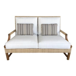 New Riviera Outdoor Loveseat by Michael Taylor Designs For Sale
