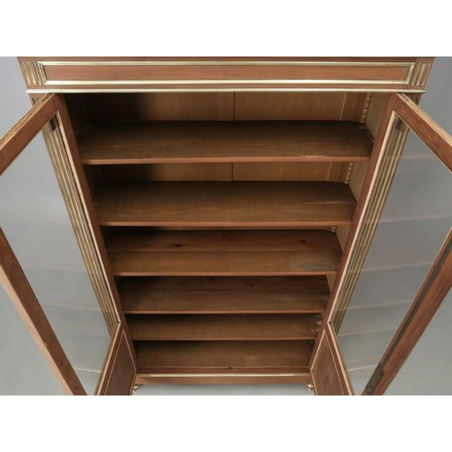 French Antique French Louis XVI Mahogany Bookcase For Sale - Image 3 of 12