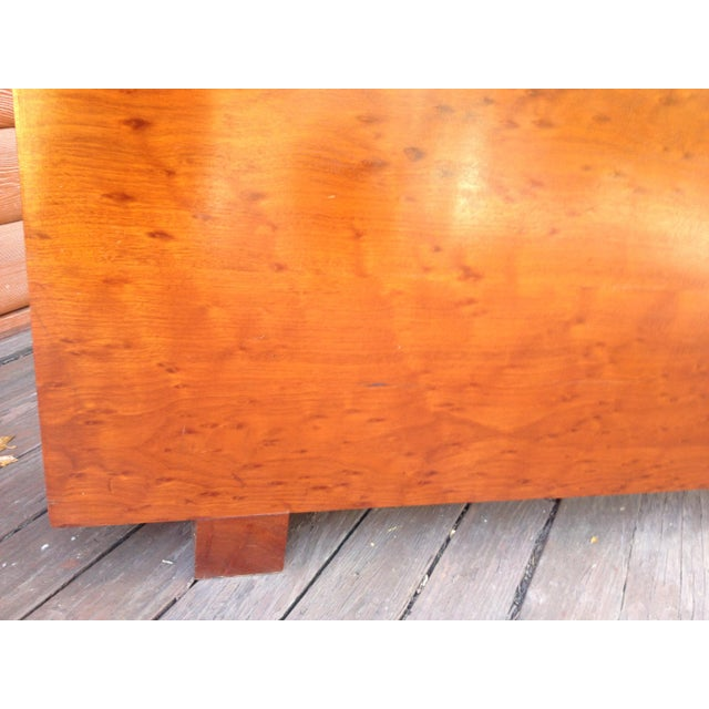 Architect's Pickle Mahogany Instrument Chest for King Headboard For Sale - Image 10 of 13