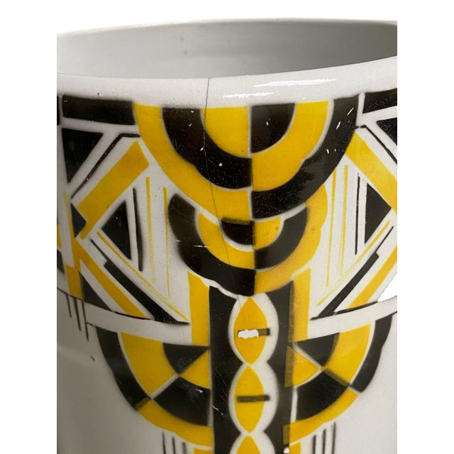 Art Deco Pitcher and Bowl - a Set For Sale - Image 10 of 12