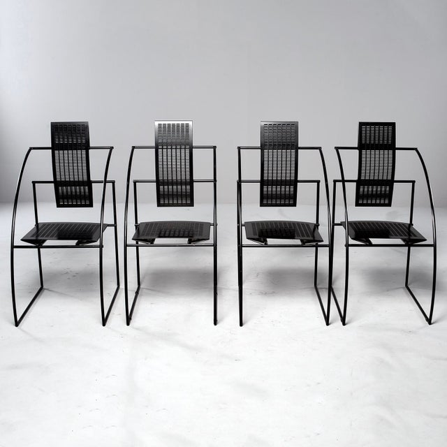 Offered are a set of eight Quinta chairs designed by Italian architect and designer Mario Botta for Alias. Chairs are...