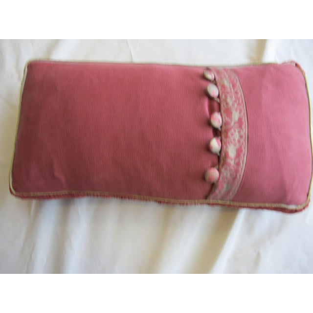 Traditional Fortuny Floral Pillow For Sale - Image 3 of 4