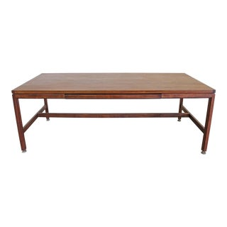 Mid-Century Danish Modern Jens Risom Large Walnut Executive Desk For Sale