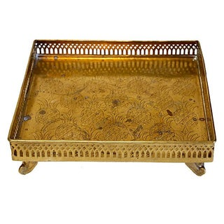 Brass Pineapple Motif Gallery Tray
