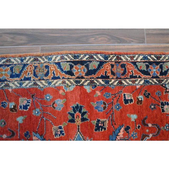 "Vintage Persian Lilihan Rug - 4' x 5'11"" For Sale - Image 5 of 11"