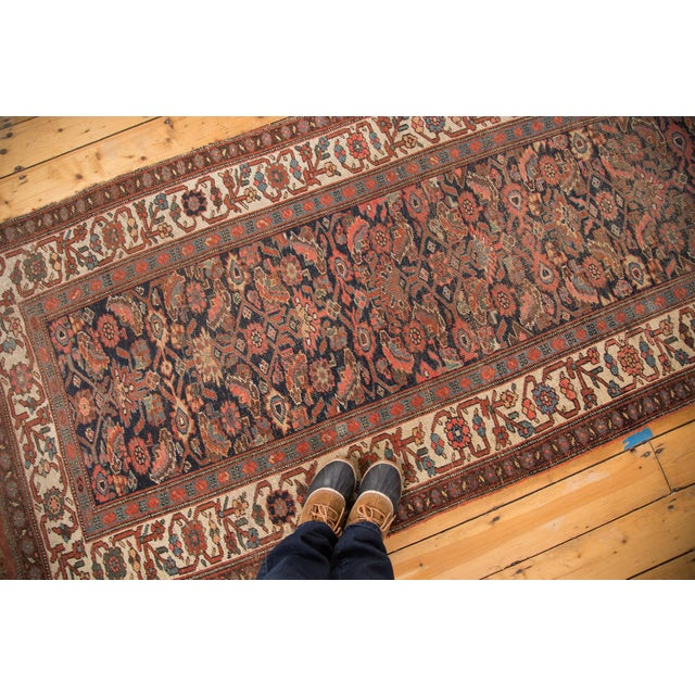 "Antique Bijar Rug Runner - 3'7"" X 10'7"" - Image 7 of 7"
