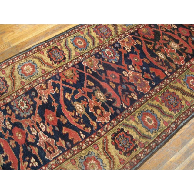 """Persian Antique Nw Persian Rug 3'4"""" X 14'3"""" For Sale - Image 3 of 6"""