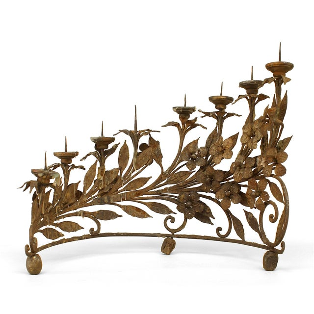 Pair of Italian Renaissance Style Wrought Iron Candelabra For Sale In New York - Image 6 of 6