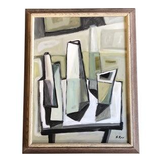Original Stewart Ross Modernist Still Life Painting For Sale