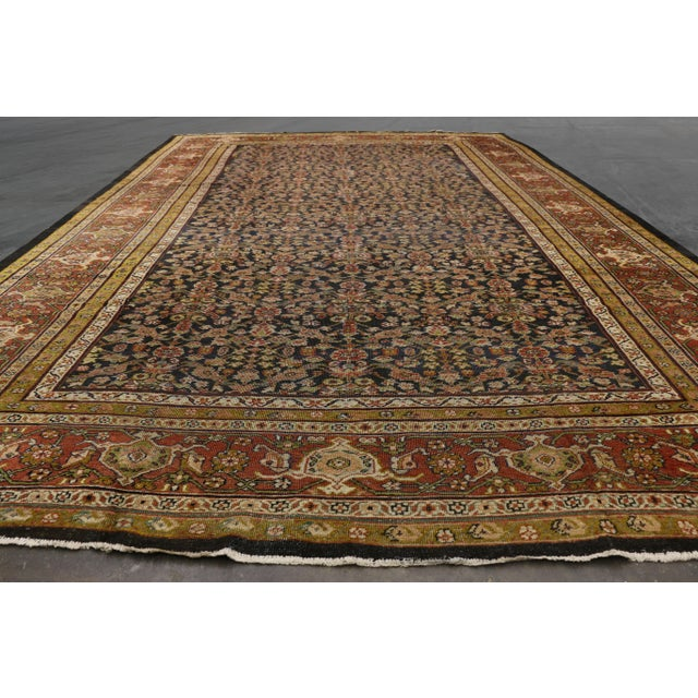 Textile Late 19th Century Antique Persian Sultanabad Palace Rug- 10′2″ × 16′4″ For Sale - Image 7 of 9