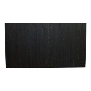 Black Weathered Look Queen Headboard Hanger Style