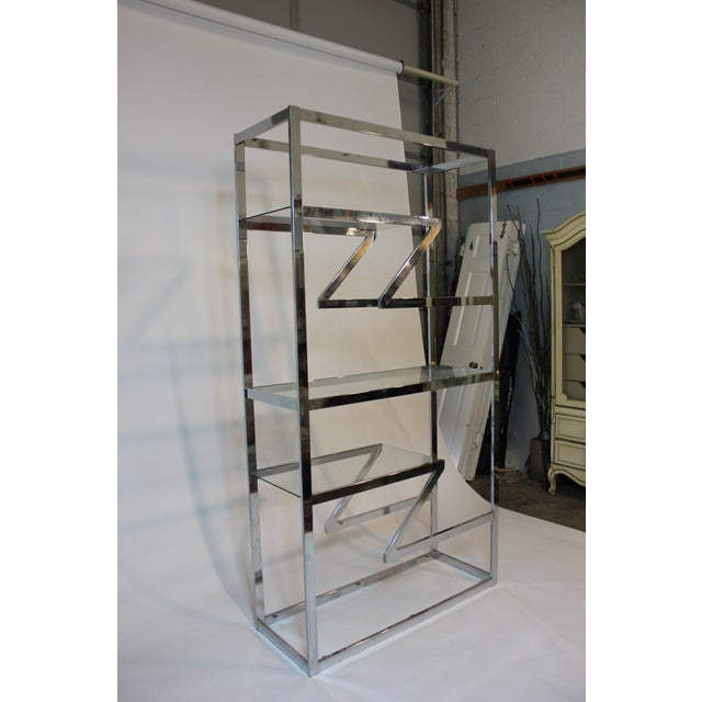 70's Chrome and Glass Etagere - Image 2 of 5