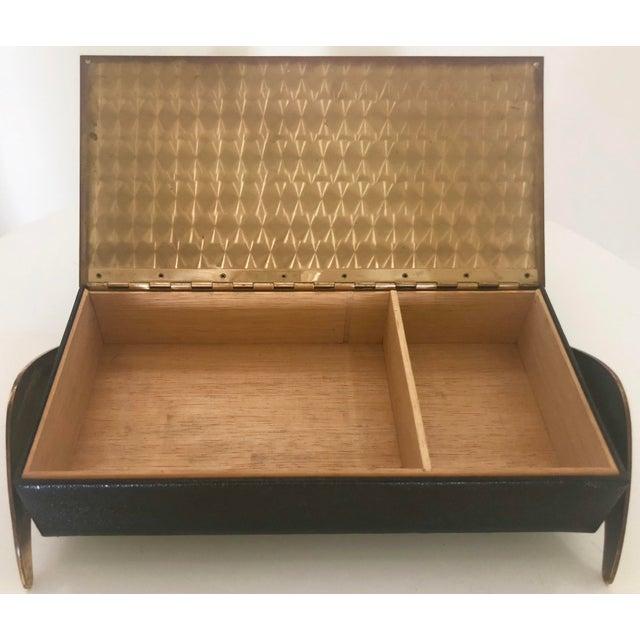 Leather/Brass Atomic Jewelry Box - Image 6 of 11