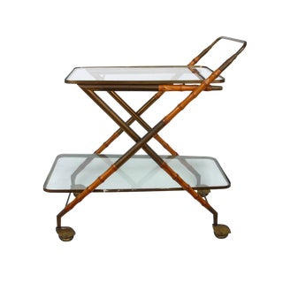 1950s Cesare Lacca Brass Serving Cart For Sale