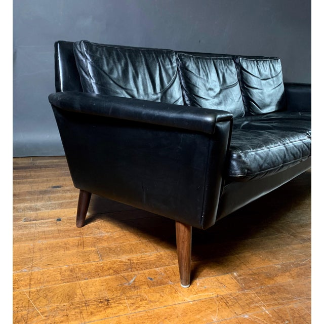 1970s Early 1970s Danish Flared-Arm 3-Seat Sofa For Sale - Image 5 of 9