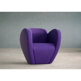 Ron Arad Lounge Chair Model in Purple Wool for Moroso, Italy Preview